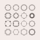 Set of ornate vector mandala borders and frames. Gothic lace tattoos. Celtic weave with sharp corners. Stock Images