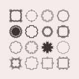 Set of ornate vector mandala borders and frames. Gothic lace tattoos. Celtic weave with sharp corners. Royalty Free Stock Image
