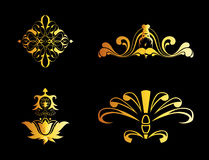 Set of Ornate Vector Ornaments. Perfect for Invitations or Announcements Royalty Free Stock Images