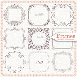 Set ornate vintage frames Stock Images