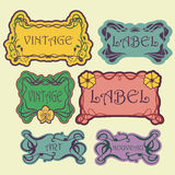 Set of ornate vintage labels. Royalty Free Stock Photos