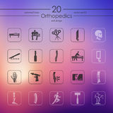 Set of orthopedics icons Stock Photos
