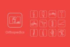 Set orthopedics proste ikony Zdjęcie Stock