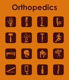 Set of orthopedics simple icons Stock Image