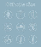 Set of orthopedics simple icons Stock Images