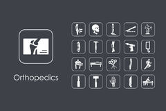 Set of orthopedics simple icons Royalty Free Stock Image