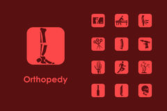 Set of orthopedics simple icons Stock Photo