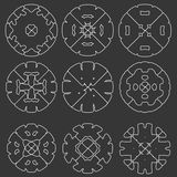 Set oryginalni projektów elementy - Obraz Stock