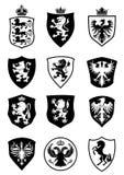 Set osłony heraldyka Zdjęcia Royalty Free