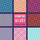 Set osiem geometrycznych wzorów ilustracja wektor