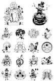 Set osiemnaście ilustracja dla St Patrick dnia Fotografia Royalty Free
