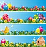 Set Ostern-Fahnen. stock abbildung