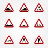 Set ostrzeżenie drogowi znaki royalty ilustracja
