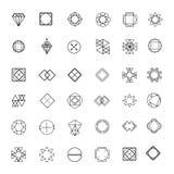 Set ostrzy mistical kreskowi logowie Fotografia Royalty Free