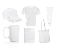 Set ot White blank objects Stock Photo