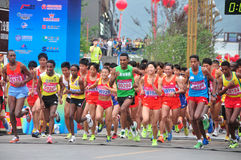 Set out. A number of countries athletes in the match. Half international marathon in fushui county in yunnan province in China, time: on September 25, 2013 Stock Images