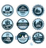 Set of outdoor adventure retro labels Royalty Free Stock Photography