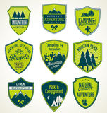 Set of outdoor adventure retro labels Stock Photography