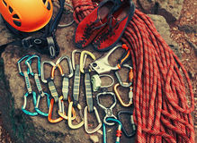 Set of outfit for climbing Stock Image