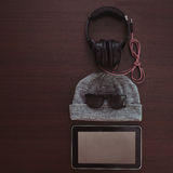 Set of outfit for music fan Royalty Free Stock Images