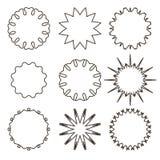 Set of Outline decorative frames vector illustration