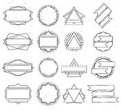 Set of outline design elements Royalty Free Stock Image