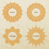 Set of outline design elements in minimal style Stock Photo