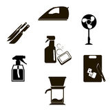 Set outline domestic tools icon Royalty Free Stock Image