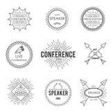 Set of outline emblem Stock Images