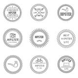 Set of outline emblems Royalty Free Stock Photo