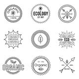 Set of outline emblems Royalty Free Stock Images