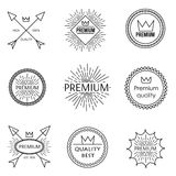 Set of outline emblems Royalty Free Stock Photography