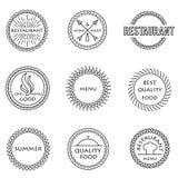 Set of outline emblems Stock Photos