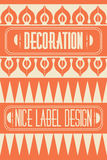 Set of outline frames, emblems and badges. Abstract hipster logo templates. Mono line graphic design templates. Royalty Free Stock Photo