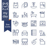 Set of outline icons for lifestyle Royalty Free Stock Photo