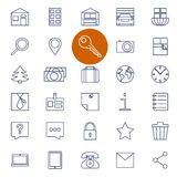 Set of outline icons for real estate sale Stock Photo
