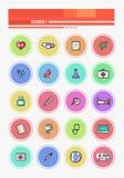 Set of Outline Medicine Icons Stock Photos