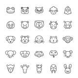 Set of Outline stroke Animal icon Stock Photography