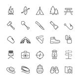 Set of Outline stroke Camping icon