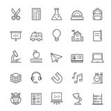 Set of Outline stroke Education icon Royalty Free Stock Photos