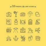 Set of Outline Travel Icons Stock Image