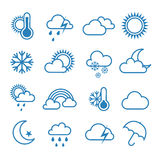 Set of outline weather icons Stock Photo