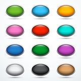Set of oval buttons Stock Images