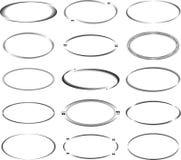 Set of oval frames. Stock Images