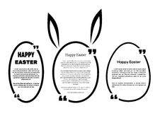 Set oval frames for Easter. Happy Easter Stock Photo