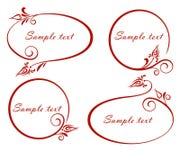 Set owalne ramy. Obrazy Stock