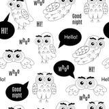 Set owl bubbles vector on white background. Stock Photo