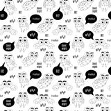 Set owl bubbles vector on white background. Royalty Free Stock Photography