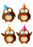 Set of owls Royalty Free Stock Photo
