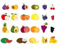 Set owoc i warzywo ikony ilustracja wektor